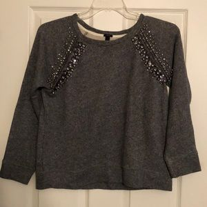 J Crew Embellished Sweatshirt. Size Medium